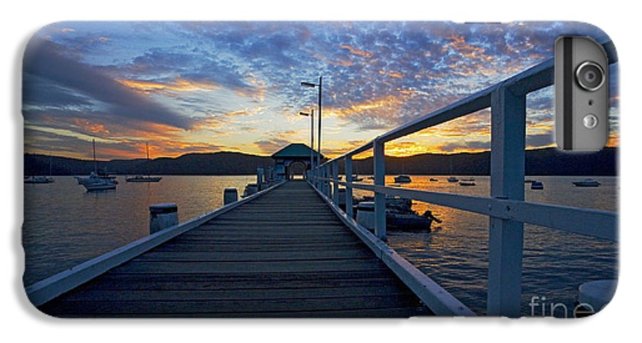 Palm Beach Sydney Wharf Sunset Dusk Water Pittwater IPhone 6 Plus Case featuring the photograph Palm Beach Wharf At Dusk by Avalon Fine Art Photography
