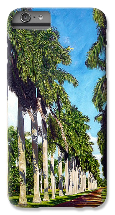Palms IPhone 6 Plus Case featuring the painting Palms by Jose Manuel Abraham