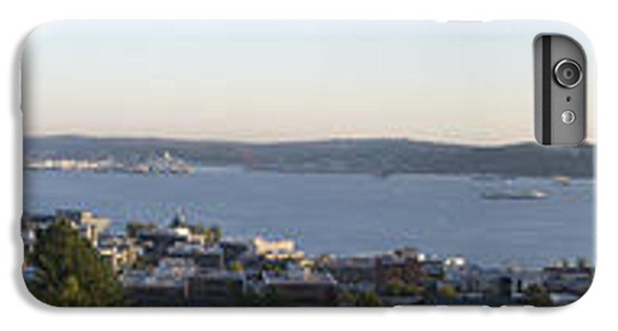 Panoramic IPhone 6 Plus Case featuring the photograph Panoramic Of Seattle by Larry Keahey
