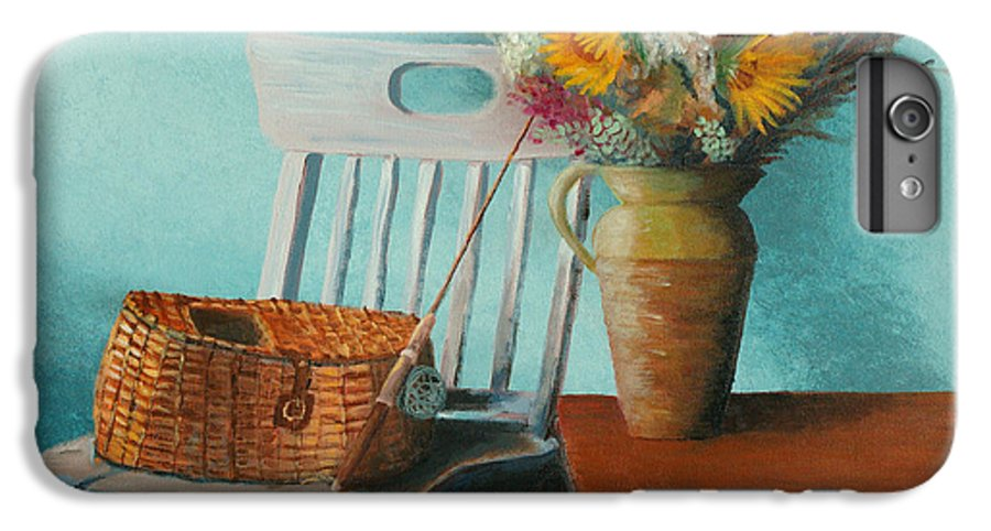 Floral IPhone 6 Plus Case featuring the painting Papa's Pole by Jerry McElroy
