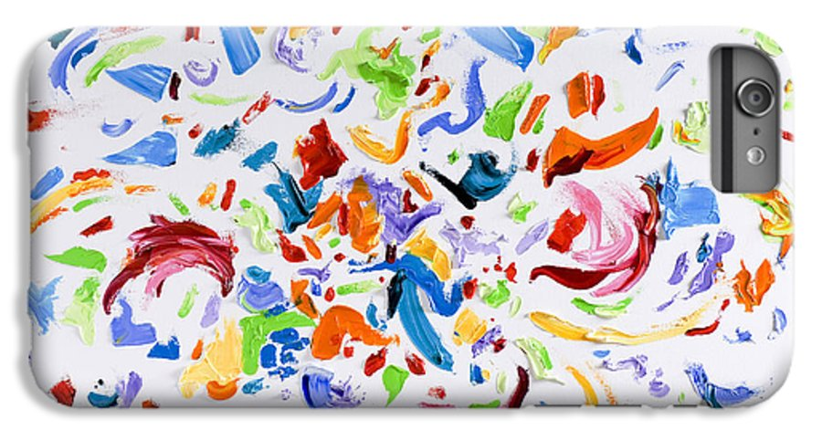 Red IPhone 6 Plus Case featuring the painting Party by Shannon Grissom