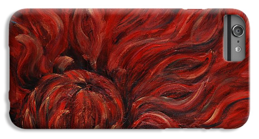 Flower IPhone 6 Plus Case featuring the painting Passion Iv by Nadine Rippelmeyer