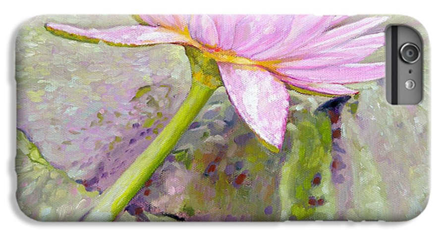 Water Lily IPhone 6 Plus Case featuring the painting Pastel Beauty by John Lautermilch