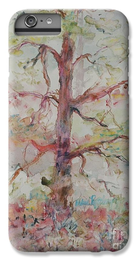 Forest IPhone 6 Plus Case featuring the painting Pastel Forest by Nadine Rippelmeyer