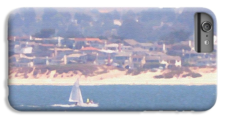 Sailing IPhone 6 Plus Case featuring the photograph Pastel Sail by Pharris Art