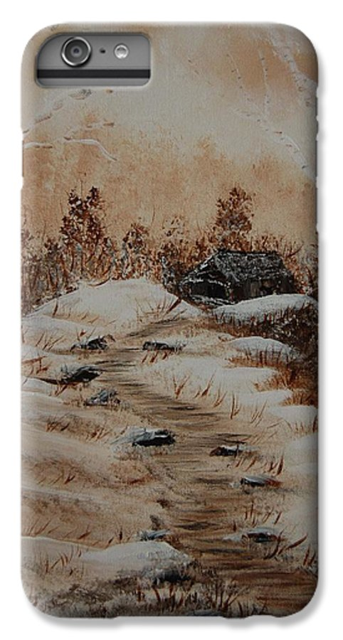 Acrylics IPhone 6 Plus Case featuring the painting Pathway To Freedom by Laurie Kidd