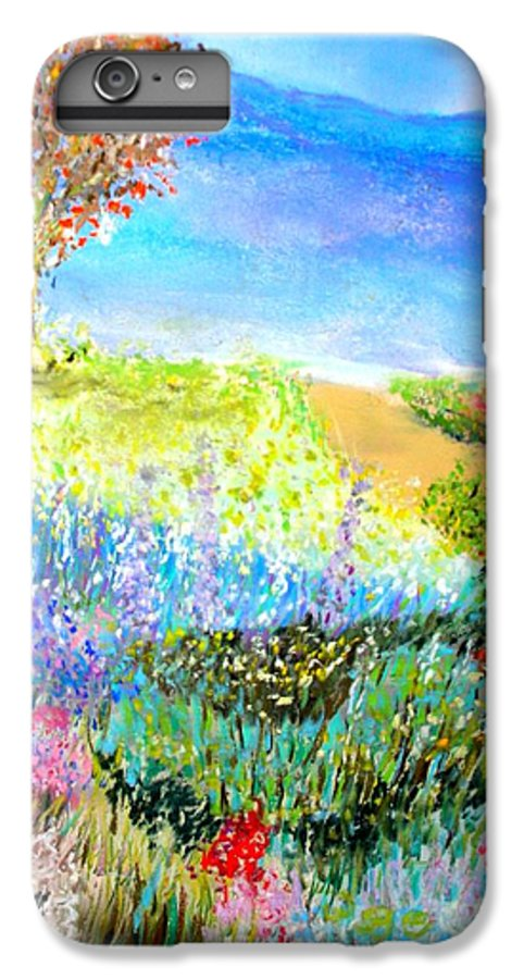Landscape IPhone 6 Plus Case featuring the print Patricia's Pathway by Melinda Etzold