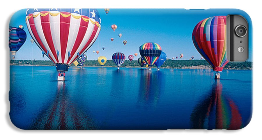 Hot Air Balloons IPhone 6 Plus Case featuring the photograph Patriotic Hot Air Balloon by Jerry McElroy