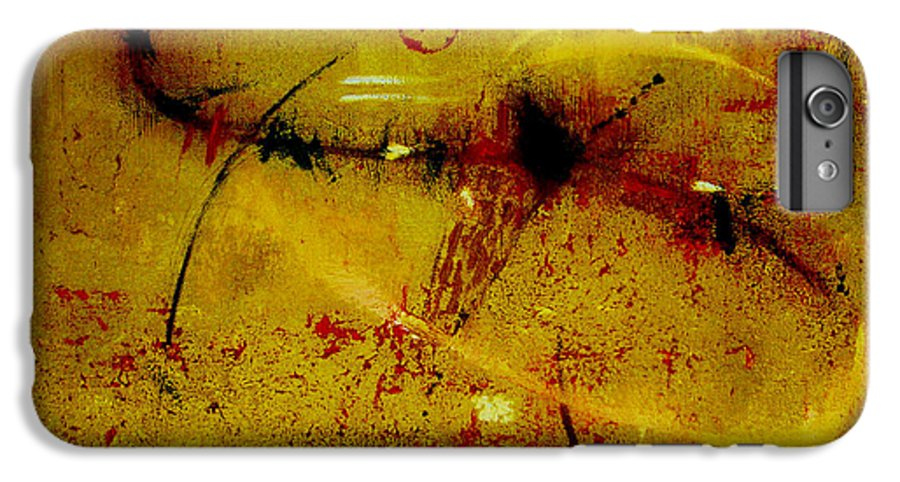 Abstract IPhone 6 Plus Case featuring the painting Pay More Careful Attention by Ruth Palmer