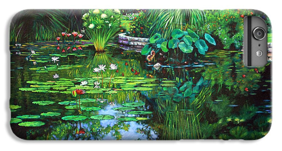 Landscape IPhone 6 Plus Case featuring the painting Peace Floods My Soul by John Lautermilch