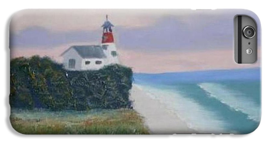 Seascape IPhone 6 Plus Case featuring the painting Peace Sold by R B