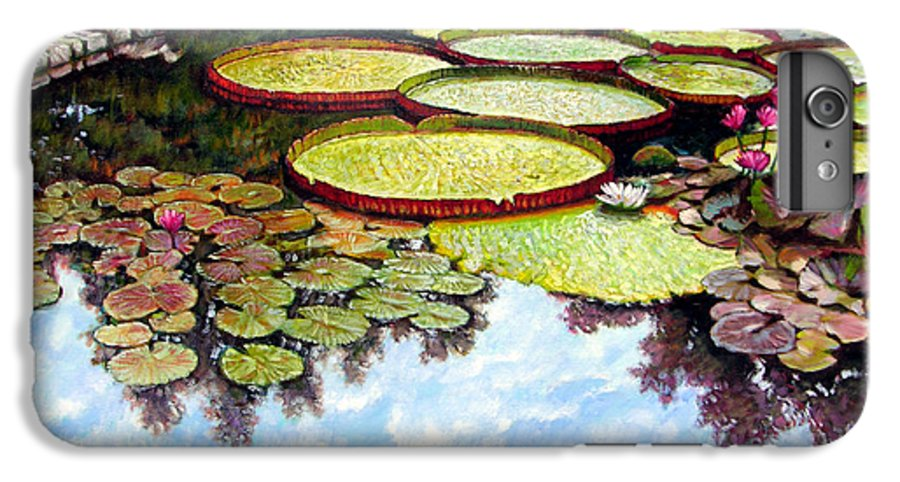 Landscape IPhone 6 Plus Case featuring the painting Peaceful Refuge by John Lautermilch