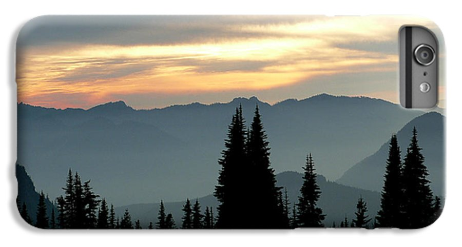 Mountains IPhone 6 Plus Case featuring the photograph Peaks And Valley by Larry Keahey