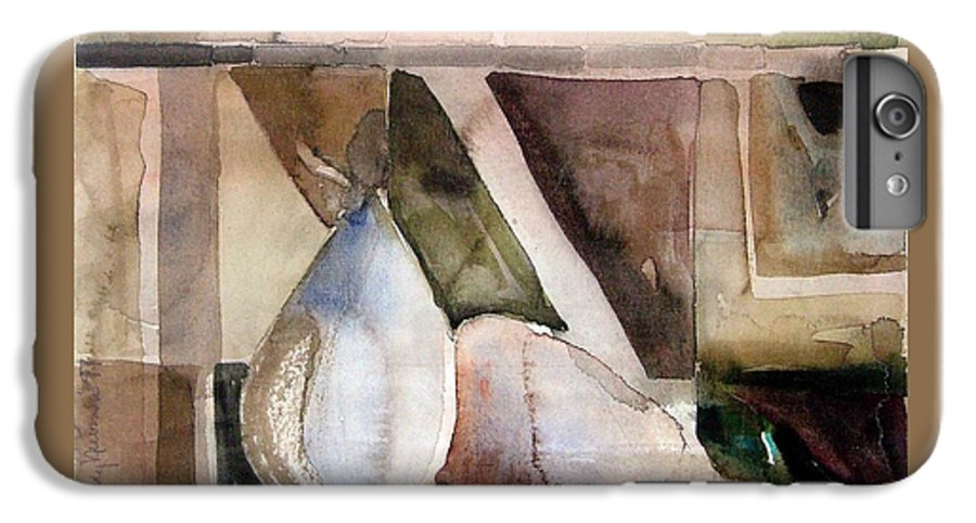Pear IPhone 6 Plus Case featuring the painting Pear Study In Watercolor by Mindy Newman