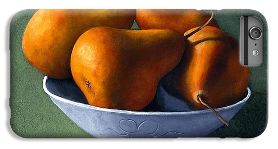 Still Life IPhone 6 Plus Case featuring the painting Pears In Blue Bowl by Frank Wilson