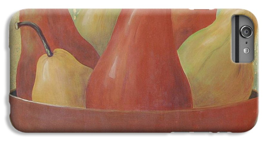 Pears IPhone 6 Plus Case featuring the painting Pears In Copper Bowl by Jeanie Watson