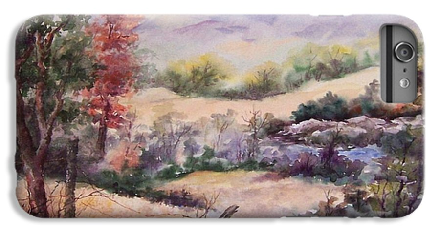 Fall IPhone 6 Plus Case featuring the painting Pee Dee Creek by Virginia Potter