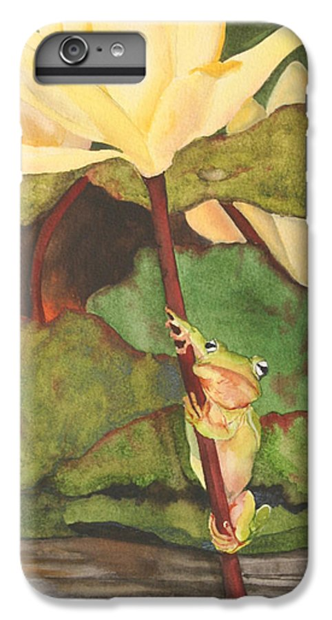 Frog IPhone 6 Plus Case featuring the painting Peeping Tom by Jean Blackmer