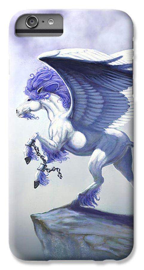 Pegasus.fantasy IPhone 6 Plus Case featuring the digital art Pegasus Unchained by Stanley Morrison