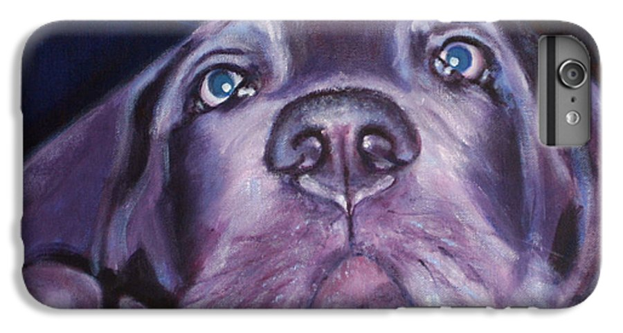 Portrait IPhone 6 Plus Case featuring the painting Pepper by Fiona Jack