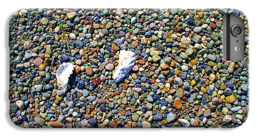Beach IPhone 6 Plus Case featuring the photograph Pepples On The Beach by Valerie Josi