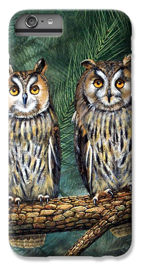 Wildlife IPhone 6 Plus Case featuring the painting Perfect Strangers by Frank Wilson