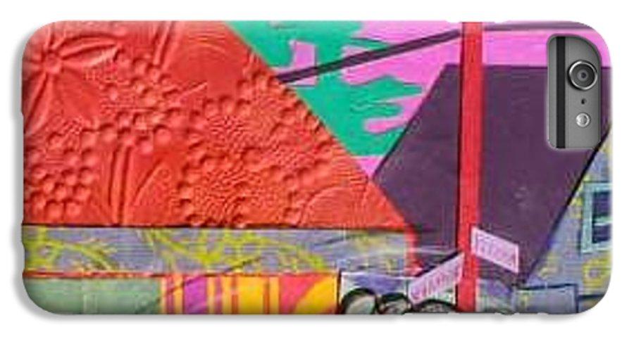 City IPhone 6 Plus Case featuring the mixed media Perham Street by Debra Bretton Robinson