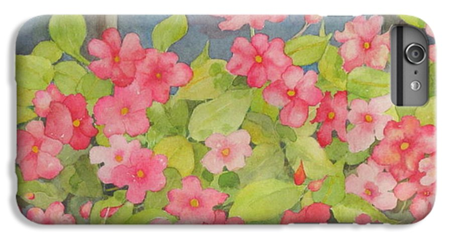 Flowers IPhone 6 Plus Case featuring the painting Perky by Mary Ellen Mueller Legault