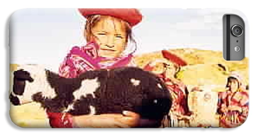Peru IPhone 6 Plus Case featuring the photograph Peruvian Girl by Kathy Schumann