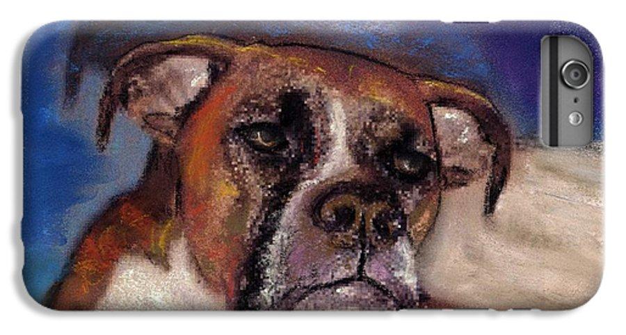 Pastel Pet Portraits IPhone 6 Plus Case featuring the painting Pet Portraits by Darla Joy Johnson