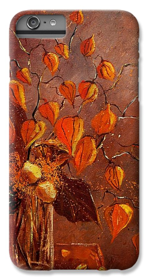 Poppies IPhone 6 Plus Case featuring the painting Physialis by Pol Ledent