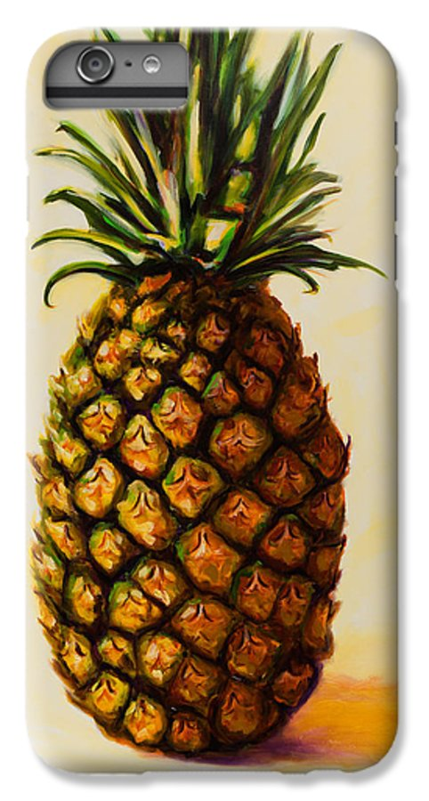 Pineapple IPhone 6 Plus Case featuring the painting Pineapple Angel by Shannon Grissom
