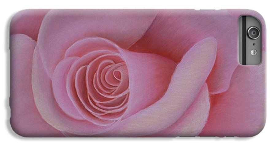 Rose IPhone 6 Plus Case featuring the painting Pink Blush by Mary Erbert