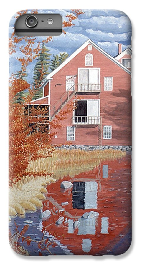 Autumn IPhone 6 Plus Case featuring the painting Pink House In Autumn by Dominic White