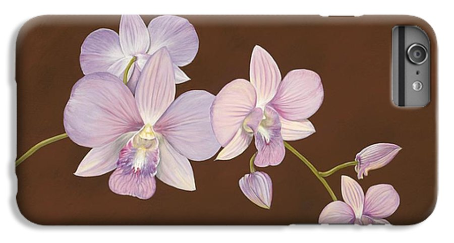 Orchid IPhone 6 Plus Case featuring the painting Pink Orchids by Shawn Stallings
