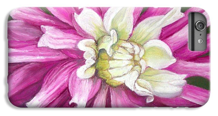 Floral IPhone 6 Plus Case featuring the painting Pink Petal Blast by Minaz Jantz