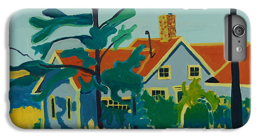 Beach IPhone 6 Plus Case featuring the painting Pinkys House On Monhegan by Debra Bretton Robinson