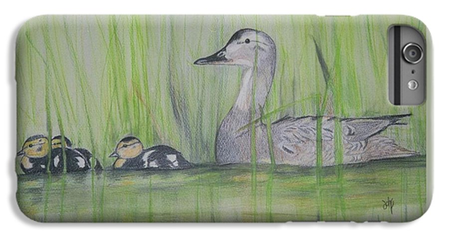 Pintail Ducks IPhone 6 Plus Case featuring the painting Pintails In The Reeds by Debra Sandstrom