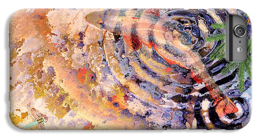 Pond IPhone 6 Plus Case featuring the painting Pisces by Peter J Sucy