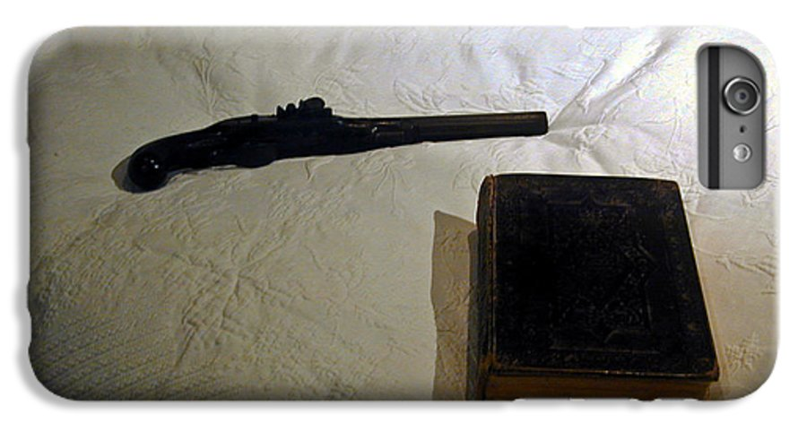 Pistol IPhone 6 Plus Case featuring the photograph Pistol And Bible by Douglas Barnett