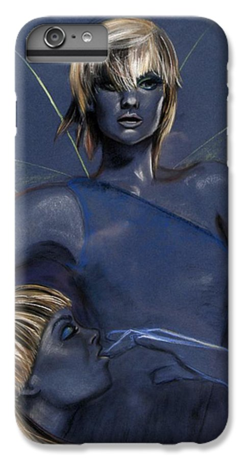 Pixie IPhone 6 Plus Case featuring the pastel Pixie by Maryn Crawford