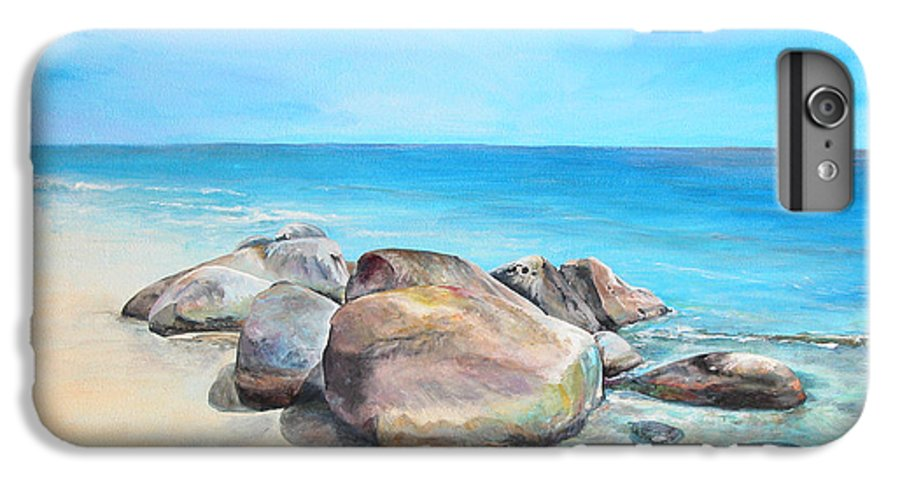 Paysage IPhone 6 Plus Case featuring the painting Plage by Muriel Dolemieux