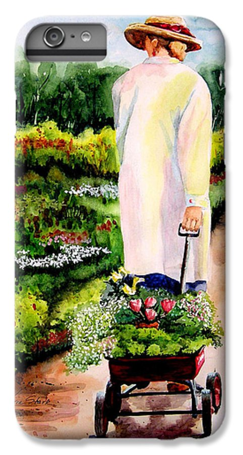 Garden IPhone 6 Plus Case featuring the painting Planting Plans by Karen Stark
