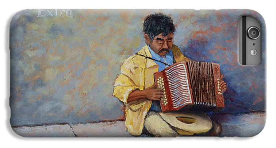 Mexico IPhone 6 Plus Case featuring the painting Playing For Pesos by Jerry McElroy
