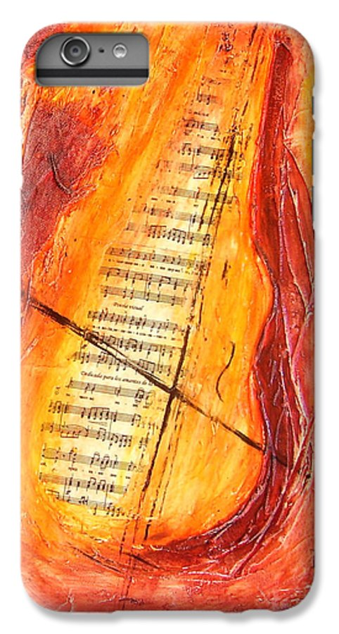 Music IPhone 6 Plus Case featuring the painting Poesial Visual by Ivan Guaderrama