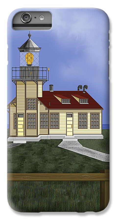 Lighthouse IPhone 6 Plus Case featuring the painting Point Cabrillo California by Anne Norskog