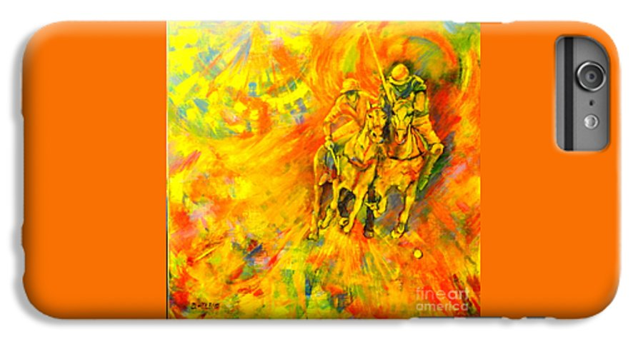 Horses IPhone 6 Plus Case featuring the painting Poloplayer by Dagmar Helbig