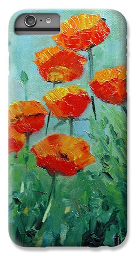 Floral IPhone 6 Plus Case featuring the painting Poppies For Sally by Glenn Secrest