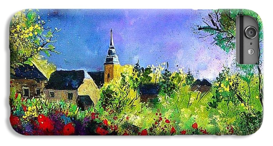 Flowers IPhone 6 Plus Case featuring the painting Poppies In Villers by Pol Ledent