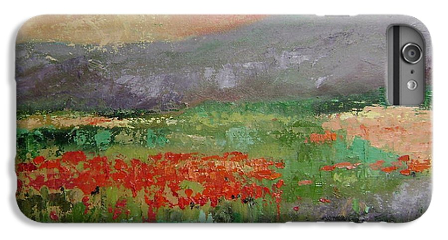 Poppies IPhone 6 Plus Case featuring the painting Poppyfield by Ginger Concepcion